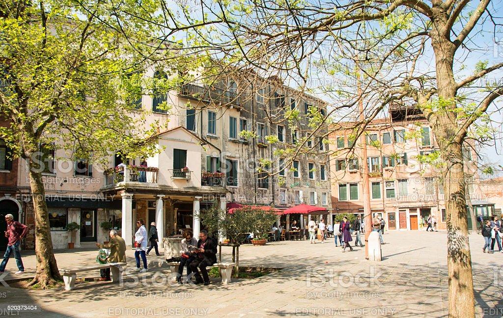Jewish Ghetto in Venice in the spring stock photo