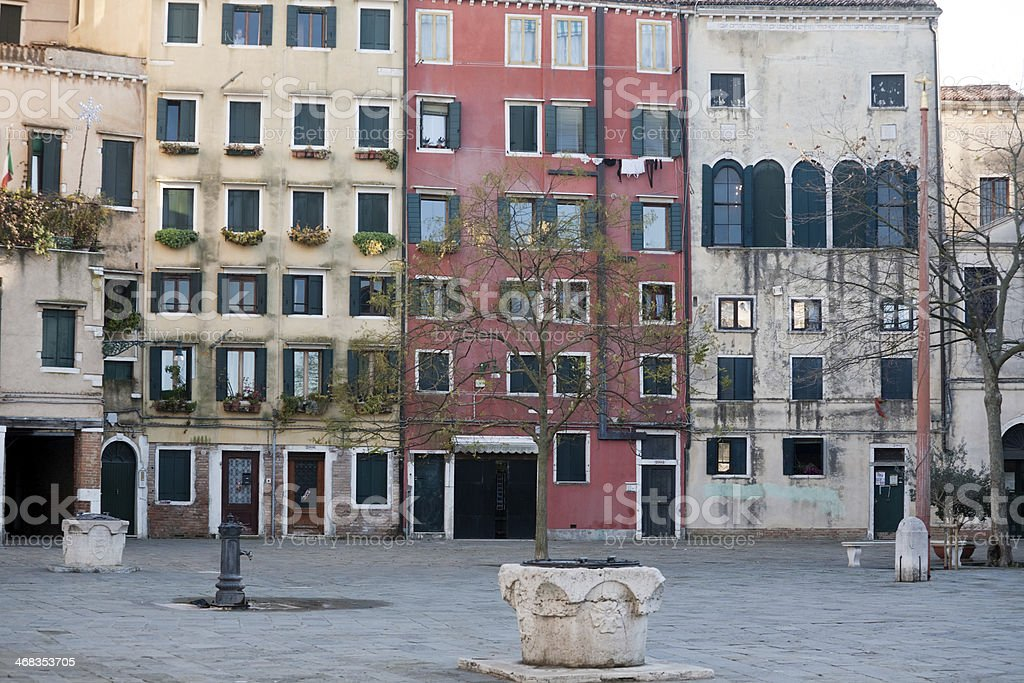Jewish ghetto in Venice stock photo