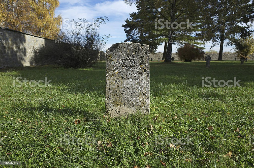 Jewish Gravestone Concentration Camp Mauthausen royalty-free stock photo