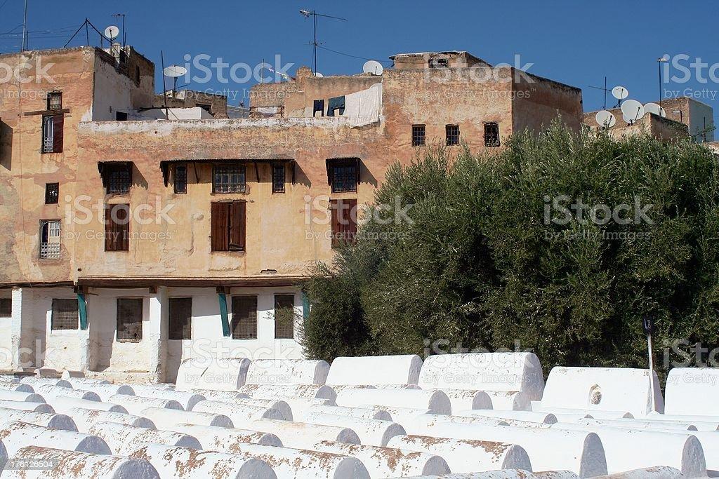 Jewish graveyard royalty-free stock photo