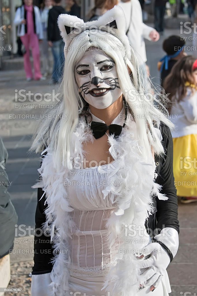 Jewish holiday Purim masquerade. stock photo