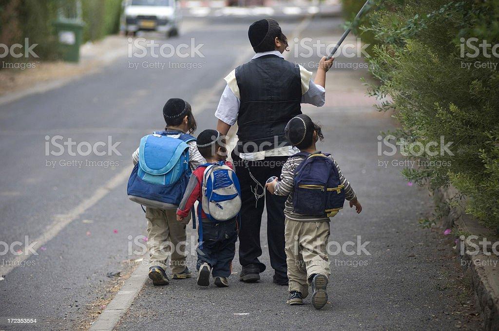 Jewish kids royalty-free stock photo