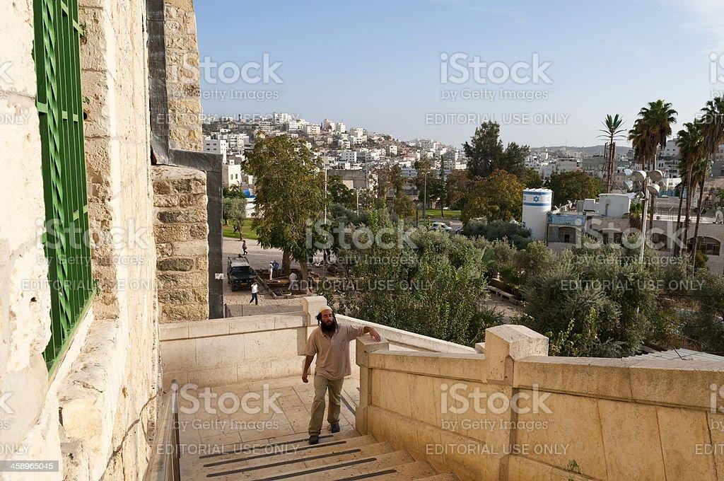 Jewish man in Hebron stock photo