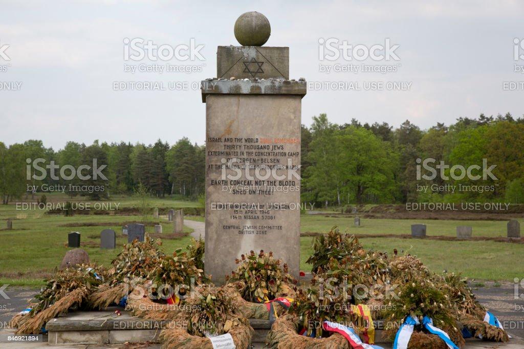 Jewish memorial Bergen-Belsen stock photo