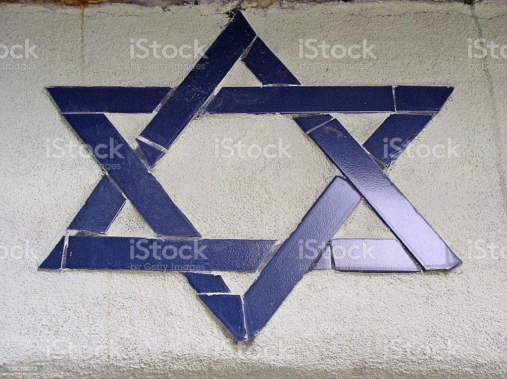 Jewish mosaic royalty-free stock photo