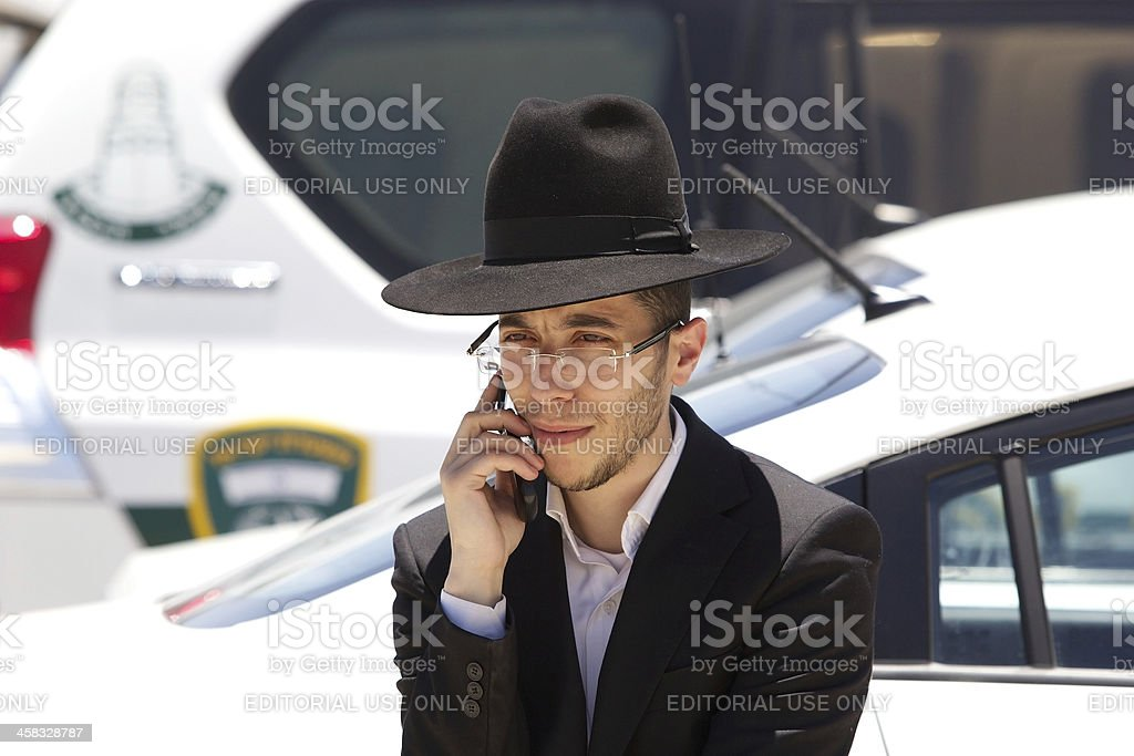 Jewish orthodox man royalty-free stock photo