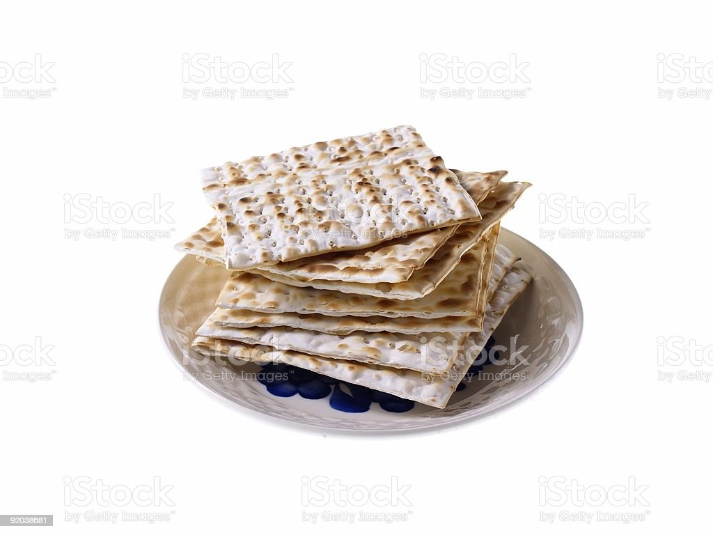 Jewish Passover Bread On Plate royalty-free stock photo
