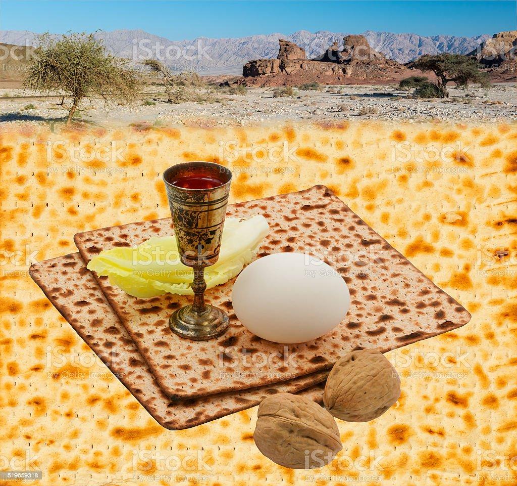 Jewish Passover symbolizing exodus of Jewish people from Egypt stock photo