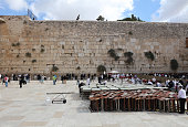 Jewish People at the Western Wall in Jerusalem