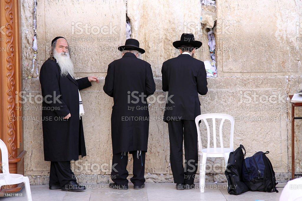 Jewish Prayer at the Western Wall. Jerusalem royalty-free stock photo