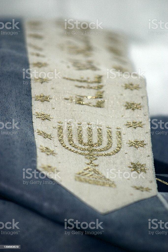 Jewish Prayer Shawl Closeup stock photo