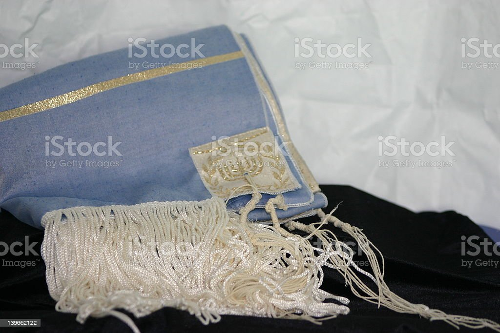 Jewish Prayer Shawl royalty-free stock photo