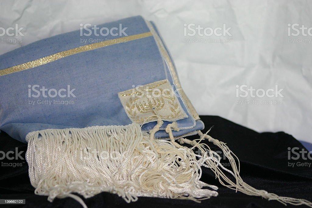 Jewish Prayer Shawl stock photo