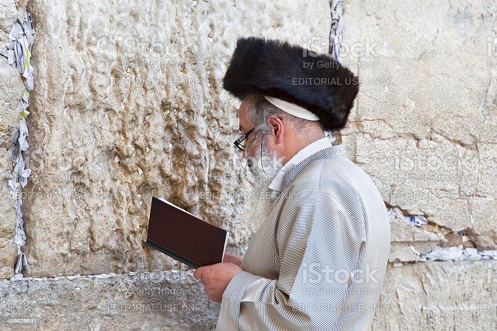 Jewish praying at the western wall, Jerusalem, Israel royalty-free stock photo