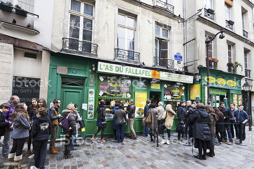 Jewish quarter of Le Marais in Paris, France stock photo