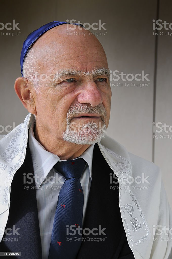 Jewish Rabbi Discussing Religion stock photo