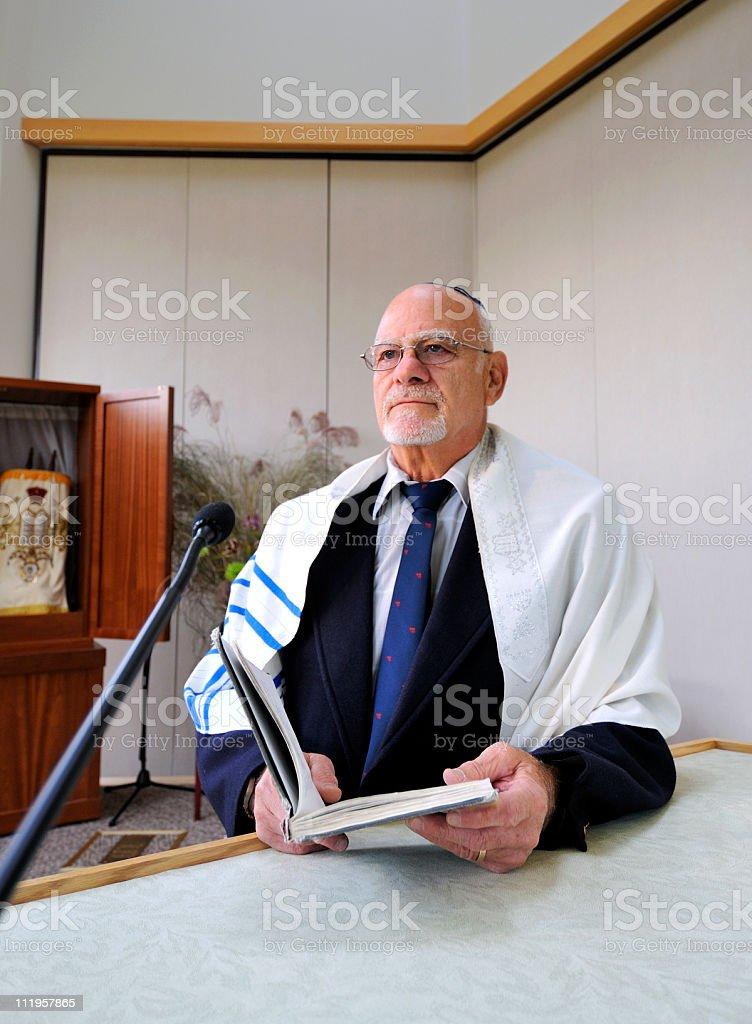 Jewish Rabbi Teaching stock photo