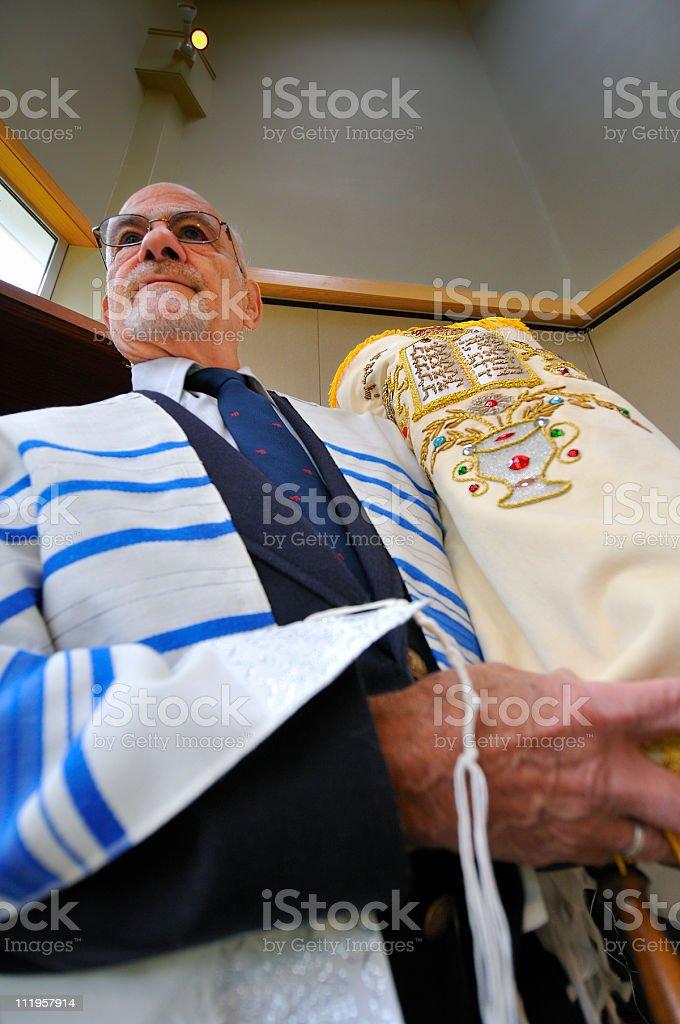 Jewish Rabbi Torah Perspective stock photo