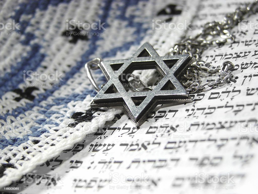 Jewish religious symbols closeup 3 stock photo