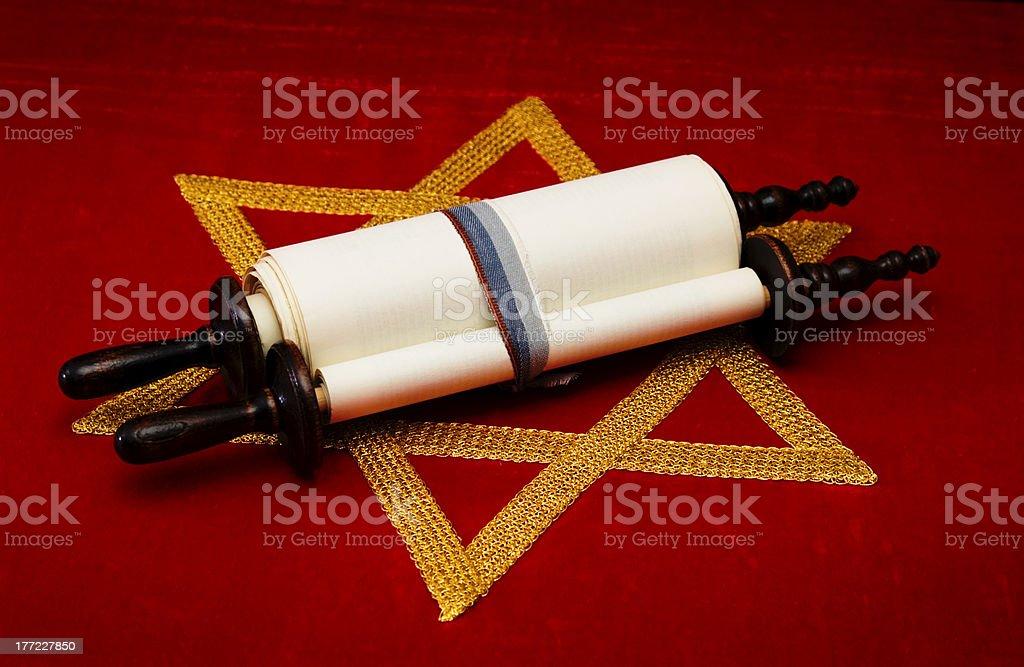 Jewish scroll royalty-free stock photo