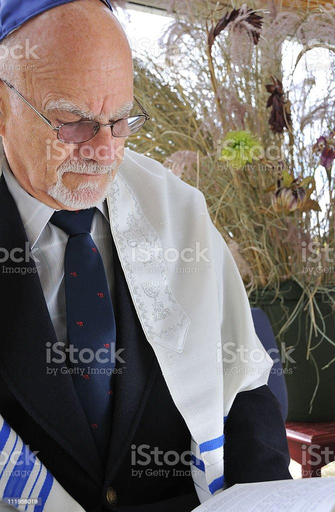 Jewish Senior Studies Torah (Talmud) stock photo