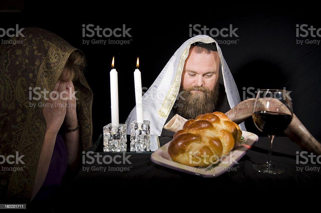 Jewish Shabbat Blessing stock photo