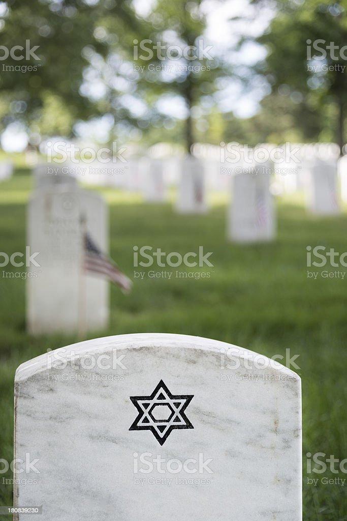 Jewish Soldier's Grave at Arlington royalty-free stock photo
