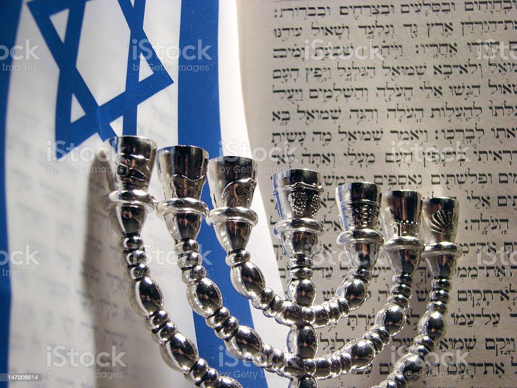 Jewish symbols royalty-free stock photo