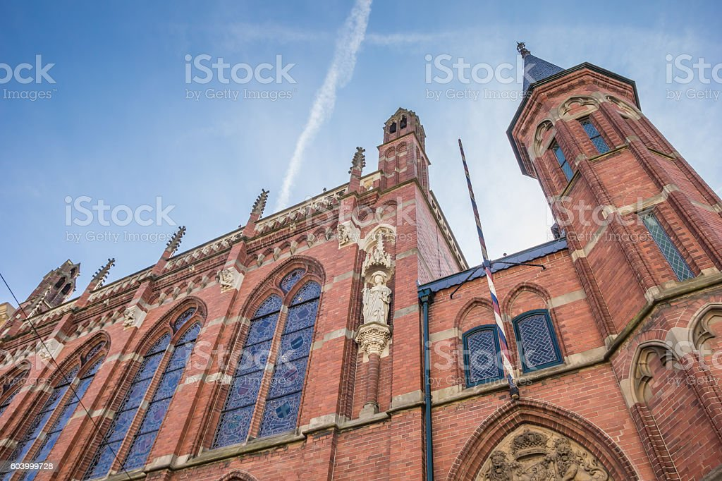 Jewish synagogue in the center of Zwolle stock photo