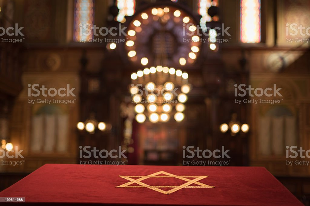 Jewish Temple Magen David stock photo
