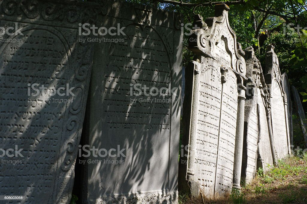 jewish tombstone stock photo