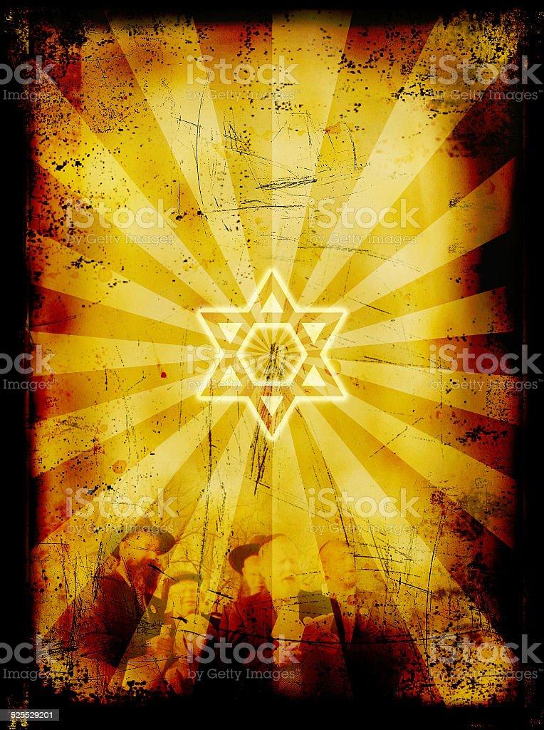Jewish Yom Kippur holiday grunge background - Day of Atonement stock photo