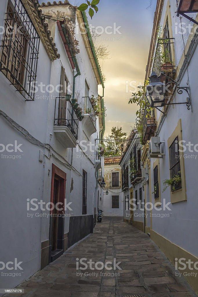 Jewry Street in Cordoba royalty-free stock photo