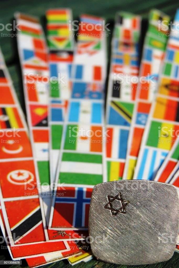 Jews, Israel and the world stock photo