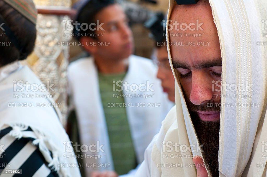 Jews praying in Jerusalem stock photo