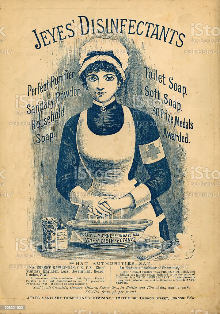 Jeyes' Disinfectants advertisement c1890 stock photo