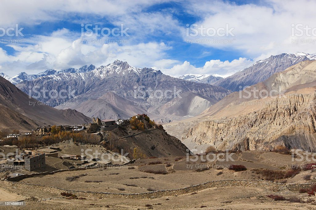 Jharkot, Nepal royalty-free stock photo