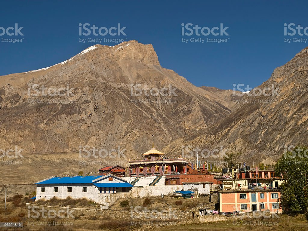 Jharkot, Nepal stock photo