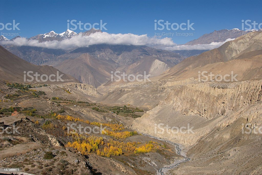 Jhong Khola valley royalty-free stock photo