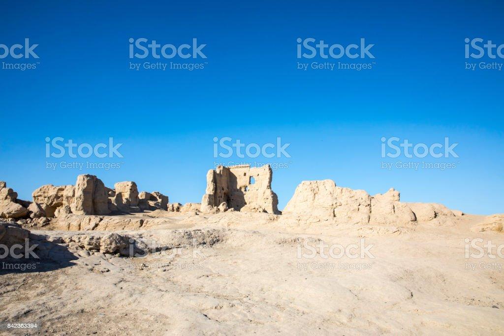 Jiaohe Gucheng, Xinjiang Uygur, China stock photo