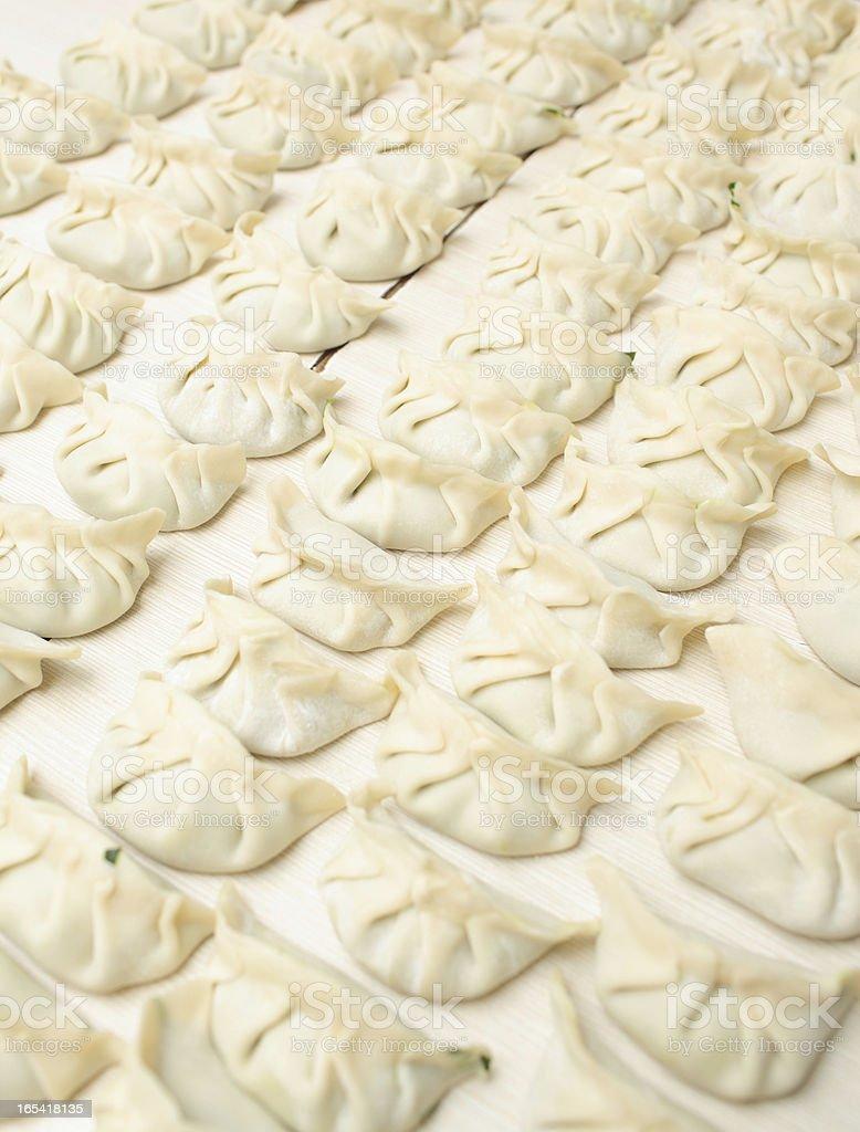 Jiaozi Chinese Dumplings royalty-free stock photo