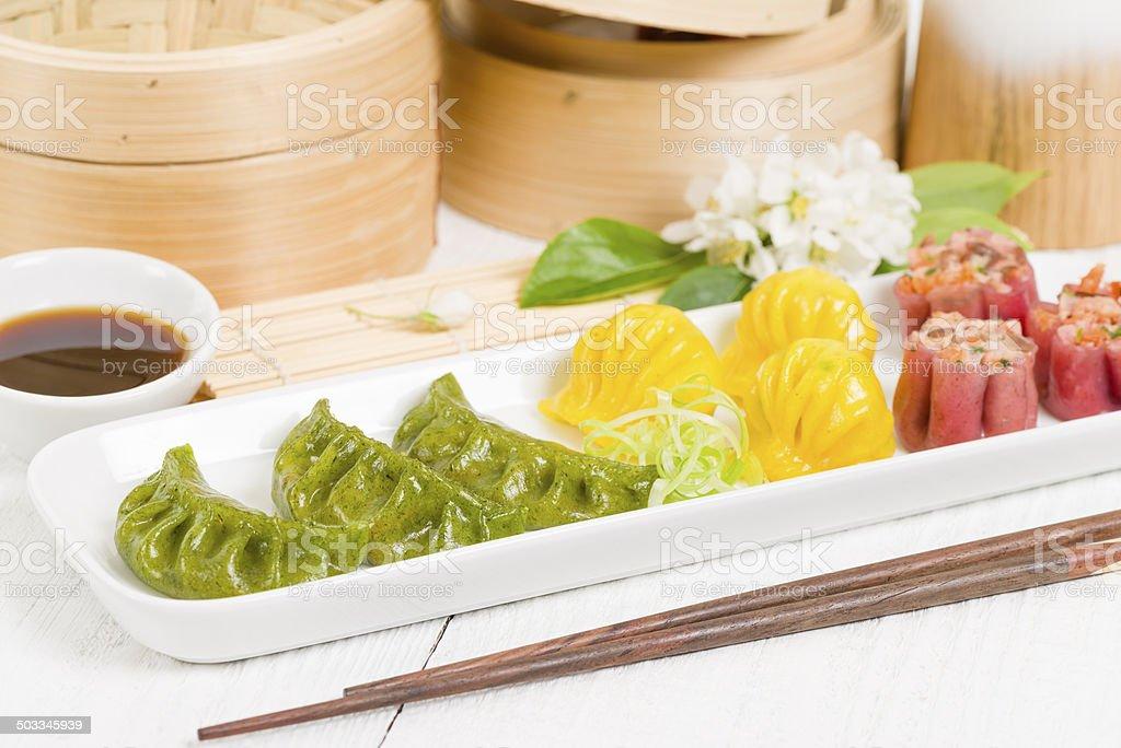 Jiaozi, Har Gow & Siu Mai stock photo