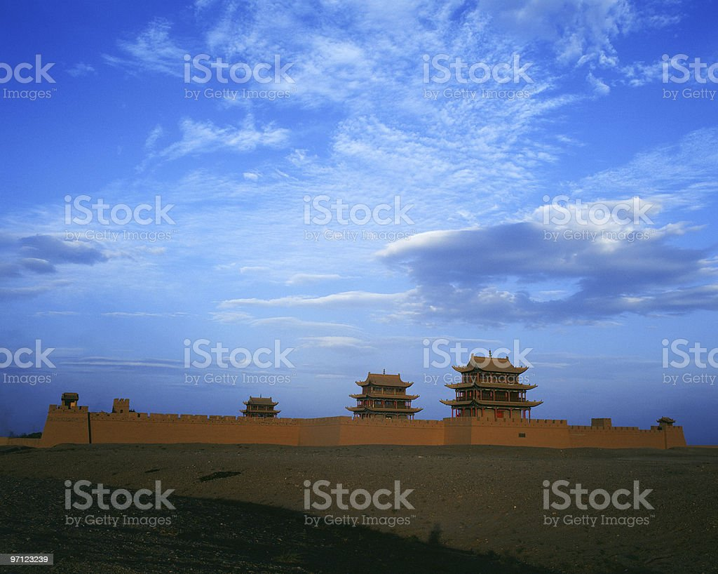 jiayuguan stock photo