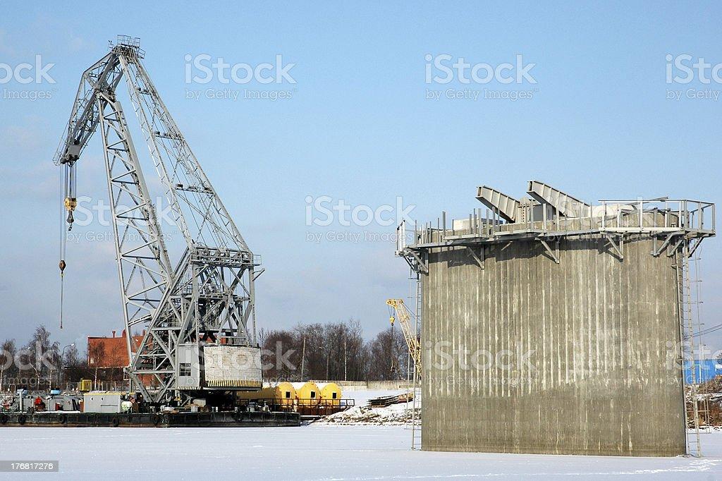 Foc Crane et le Pont Pylon photo libre de droits