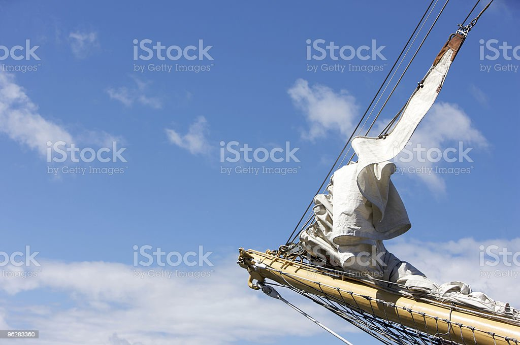 Jib on Bow of a Tall Ship royalty-free stock photo
