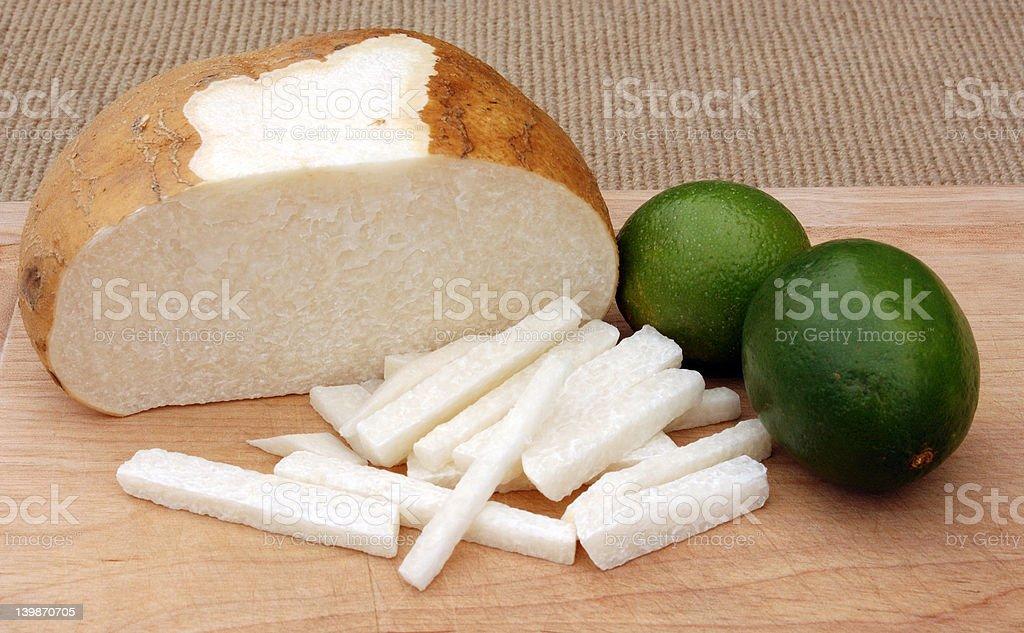 Jicama and Limes stock photo