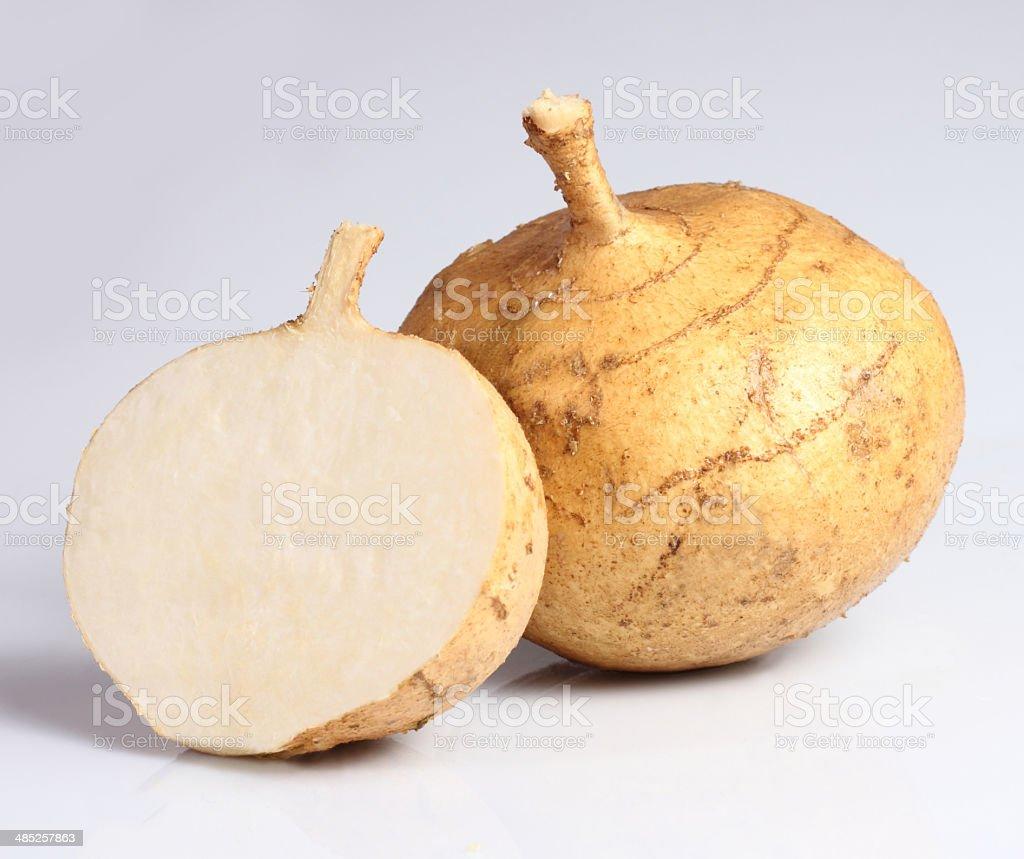 Jicama stock photo