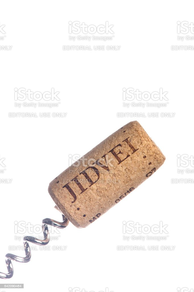 Jidvei  wine cork stock photo