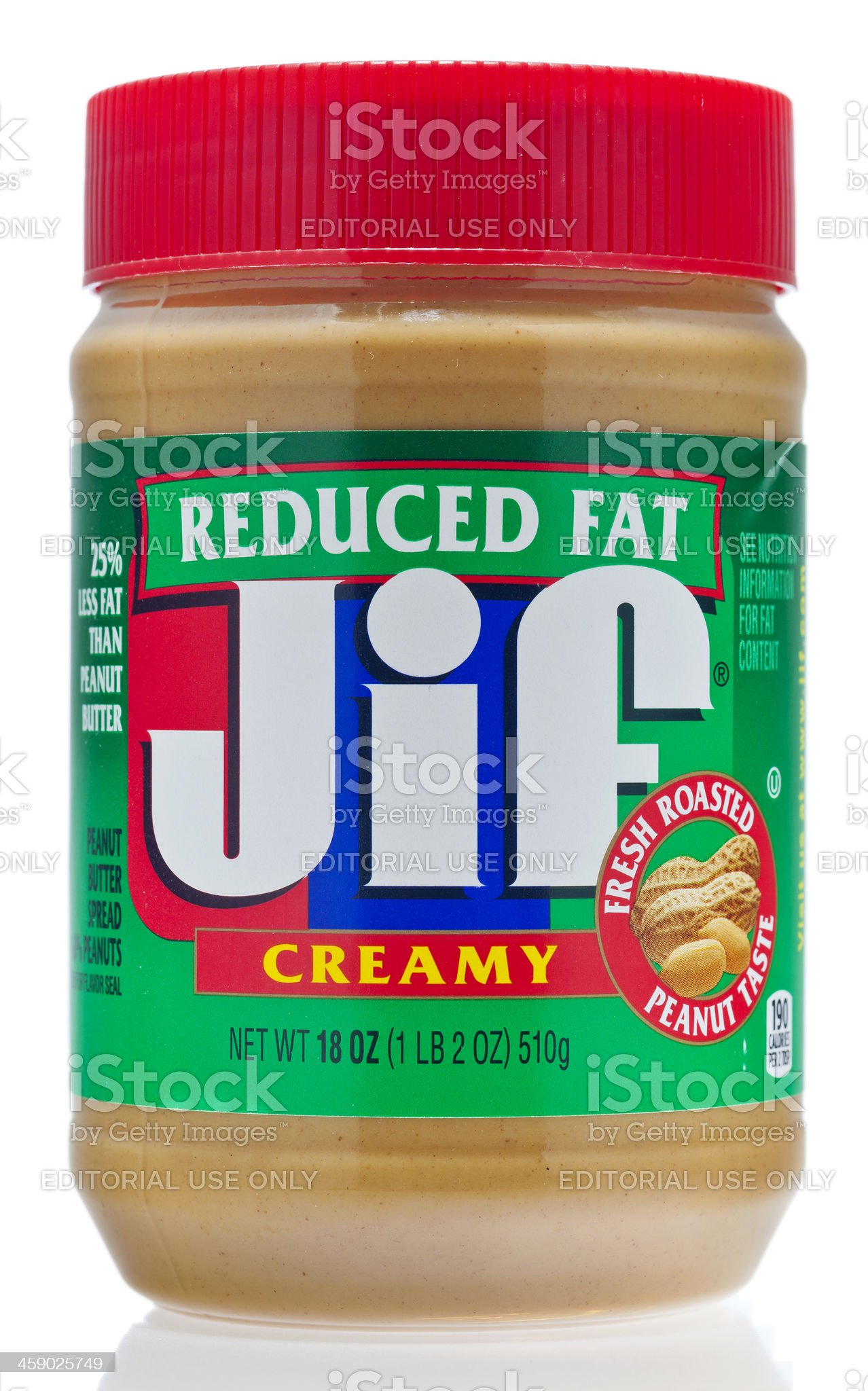 Jif Reduced Fat Creamy Peanut Butter royalty-free stock photo