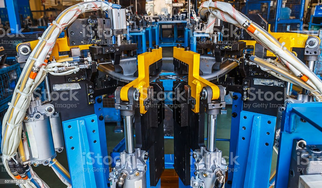 Jigs fixtures use for welding stock photo